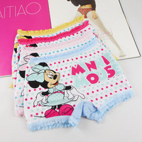 free shipping !   Children's lingerie kid s boxer underwear baby girls  pants  mickey printed mix design  4size  S M L XL