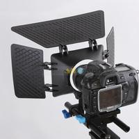 Camera video lens hood for 60D 70D 7Dii 5Dii 5Diii 6D D7000 d700 d800 DSLR matte box 15mm rail rod support system accessories