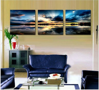 Free shipping 3 Panels Living Room Decorative Canvas Painting Modern Huge Picture Paint Print Art beach sunset painting