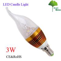AC85-265V 3W E14 led candle bulb lamp LJLZ-NGK11-3