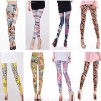 new 2014 spring leggings for women leggins Lotus Sexy girls'  Legging foral print Cheap adventure time