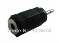 WHOLESALE 100pcs/lot 2.5mm Male to 3.5mm Female M/F Audio Adapter Converter