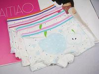 free shipping  6pcs/lot    girls underwear  children 's   cotton boxer briefs   XL