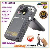 2013 Mini  car dvr  Mini F900LHD with FHD1080P + GPS Logger + G-Sensor + Ambarella + H.264 + Remote Control !Free Shipping !