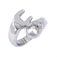 Free shipping! Motorcycle Biker Spanner Ring Stainless Steel Jewelry Cool Motor Biker Ring SWR0046