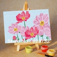 JIUJIU DIY digital oil painting Free shipping the picture unique gift home decoration 10X15cm Love of Flower paint by number