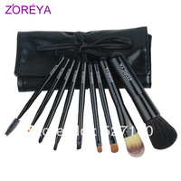 Zoreya 9 professional brush set ,make-up cosmetic tools ,cosmetic brush set PU bag
