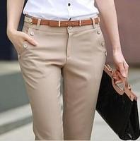 6XL Women Pants 2014 Spring Autumn Casual Plus Size OL Formal Women Work Pants Fashion Office Dress Pants Trousers W125