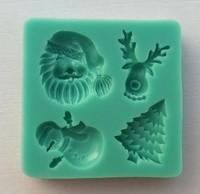 "Free Shipping 3D Silicone Mold,1Pcs ""Santa Claus""cake Chocolate Candy Jello Bakeware sugarcraft Mold Tools"