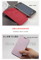 free shipping  New high quality PU Leather flip cover case  for samsung galaxy i9000  i9001 ,anti-shock and waterproof