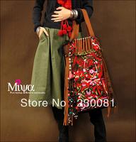 Bags Women 2013 Fashion Canvas Embroidery Handbag/Totes Original Design Miya Bags Designer Handbags Hiltribe Bag