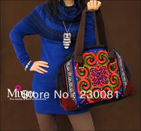 Original Design handbag Embroidered Ladies' Embroidery Shoulder Bag Vintage Hmong Embroidery Handbag Women 2013