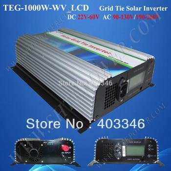 1000W Solar Grid Tie Inverter with LCD display 22-60V to 100V, 110V, 120VAC new technology