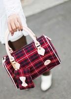 high quality handbags 2014  women bags Fashion female package Scottish style bag genuine leather handbag  handbag brand