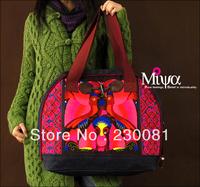 2013 Brand Original Design Embroidered Women Messenger bags Fashion Canvas Ladies Embroidery Shoulder Bag/Totes