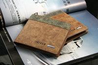 Hot sale men's genuine leather male wallet short design cowhide wallet D1104