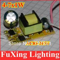 2013 New item 10pcs/lot,(4-7)x1W Common Use led driver,4w5w6W7W lamp transformer 85-265V for LED DIY free shipping