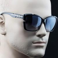 2014 fashion big women men sunglasses rivet metal large sunglasses free shipping 100% UV400 Resistance material 090