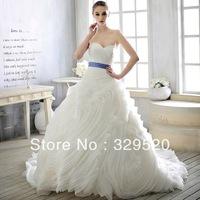 2013 Top retro / Pompon / Strapless /  Luxury Trailing Wedding dress Wedding Gown Top Custom-made Us0008