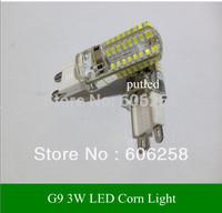 G9 3W 3014 64 SMD LED Crystal Lamps Energy Saving Corn Light Bulbs Light 220-240V 10pcs