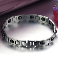 Pulseiras Masculinas 12.3MM Wide Health Bracelet Men Energy Magnetic Bracelets Bangles Power Increased Mens Bracelets Wristband