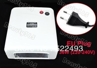 36W UV Lamp Light GEL Curing Nail Dryer 9W Tube Bul White 220-240V With EU Plug Free Shipping