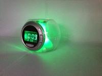 Luminova Glowing Led Color Change Digital Alarm Clock as night light SL-538502