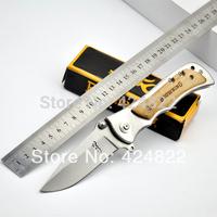 OEM -339 (steel ecru) Folding Blade Utility Knife 57HRC 440C Best Gift Free Shipping 220g