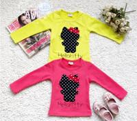 2013 female children's wear long-sleeved T-shirt T-shirt, minnie mouse children's clothing brand