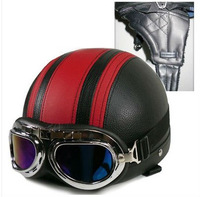 Free Shipping Motorcycle scooter Vintage helmet motorbike goggle+Ear Cover Winter Summer #YE-3
