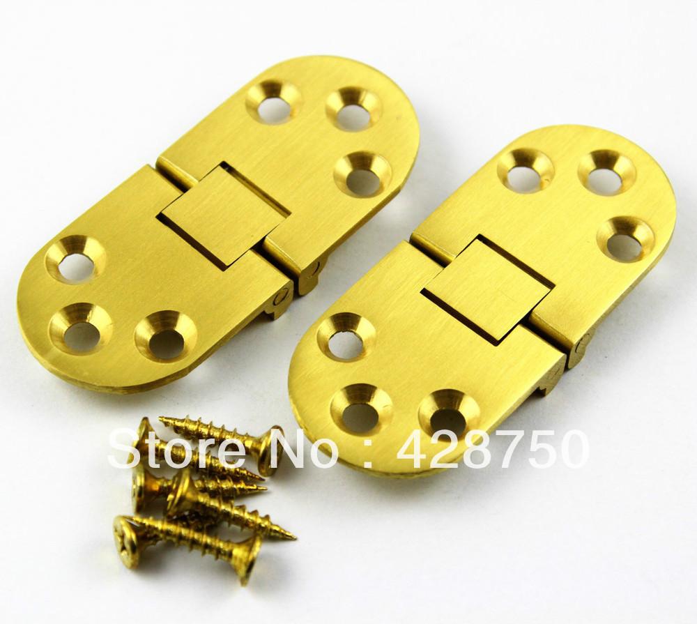"""Solid Brass Hinge Round Hinge 2-3/4"""" x 1-3/16"""" with Screws(China (Mainland))"""