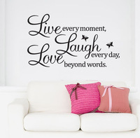 DIY Live Laugh Love Removable Vinyl Wall Sticker Decal Wallpaper Art Home Decor Free shipping