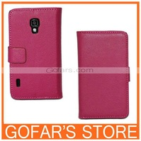 New arrival Lychee style Wallet Leather Stand Case Cover For LG Optimus L7 II P710 Shell Free shipping