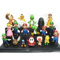 "Game Super Mario Brothers: Set of 18pcs 2"" Mini Action Figures PVC Dolls Toys Gifts"