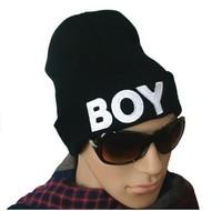 1pcs,Korean version of popular letter BOY cap,Winter hat,Fashion men and women knitting cap,2color,Free shipping