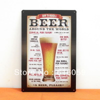 [ Do it ]  Beer Metal tin signs Bar Metal painting 20*30 CM B-53 Free shipping