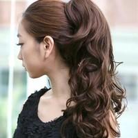 Ponytail wig hair wig long roll horseshoers wig horseshoers