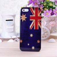 Retro Style Flags Design Hard Back Case Cover for iPhone 5 5S ----- Australian Flag
