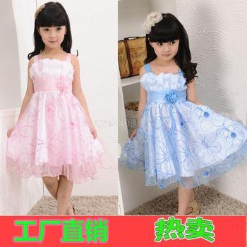 Retail 2013 summer girls dress princess baby clothes kids dress children dress size for 3-10 years