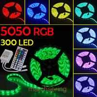 5M 5050 60LED Strip DC 12V 55W Non-Waterproof RGB Strip Light + Control Box + Controller