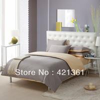 Silver gray splice version design Reactive printing bedclothes 100% Cotton king queen bed set duvet cover sheet Pillow Cover 85