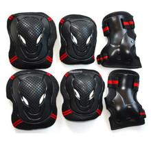 Adult skating protective gear 6 set elbow & knee & hand protect  inline skating roller skates free shipping(China (Mainland))