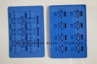Free Shipping via DHL/Fedex 400pcs per lot Robot Ice Mold Silicone Ice Cube Tray hot sale