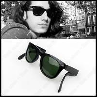 2013 Fashion RB Retro Elegant High Quality star Sunglasses Women Men Sun glasses Brand Design Green glass lens Free Shipping