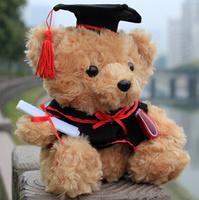 Dr Graduated Bear doll wearing suits  dr. cap  Graduation Gift Big Plush Toys high 45cm