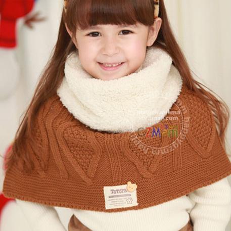 Winter Baby Shawl Kids Wraps Child Scarf Girl Neck Warmer Scaref Muffler For Baby 3-15 Years(China (Mainland))