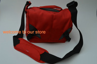 Canvas Leisure Camera Bag For Nikon D5000 D3000 D80 D60 P100 P90 RED