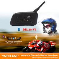 bluetooth headphone 1*bt  wireless Helmet Headset Motorcycle Intercom for 6 Riders 1200m wireless walkie talkie