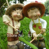 FreeShipping Western style cute doll married doll rustic home set decoration  a101235