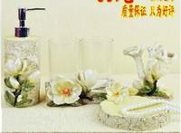 Free shipping Bathroom supplies set resin bathroom set of five pieces wedding gift set  wedding gift souvenir